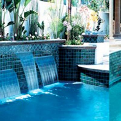 pool renovators cascade water falls